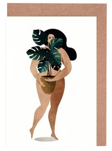 Nude with Plant