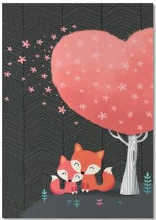 Foxes with Blossom