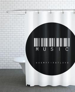 Barcode Music Circle Black