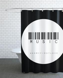 Barcode Music Circle White