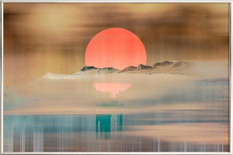 When the sun touches the horizon