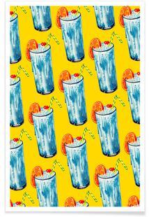 Blue Hawai Pattern