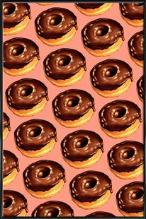 Chocolate Donut Pattern - Pink