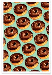 Chocolate Donut Pattern -Teal