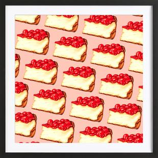Cherry Cheesecake Pattern Pink