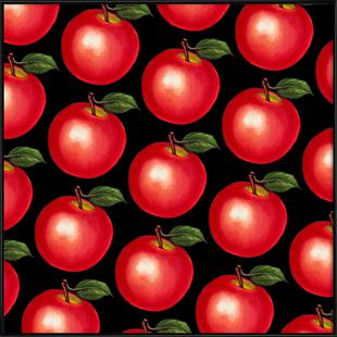 Lunch Patterns Apple Black