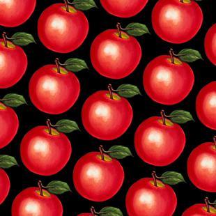 Lunch Patterns Apple Black