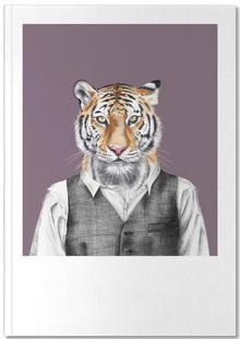 Tiger im Hemd und Weste