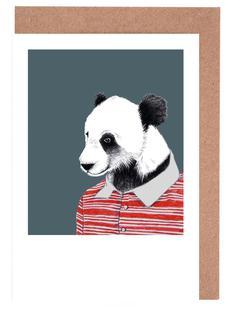 Panda im Polohemd