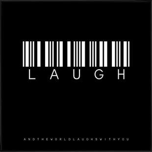 Barcode LAUGH Black