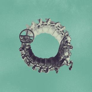 Steampunk Alphabet Letter O