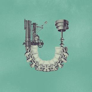 Steampunk Alphabet Letter U