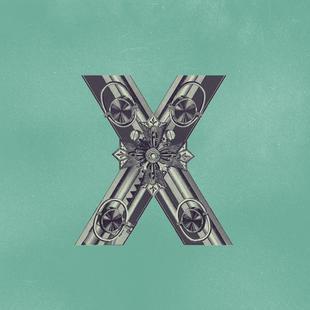 Steampunk Alphabet Letter X