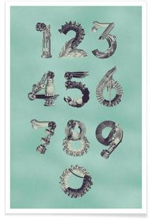 Steampunk Numbers 0-9