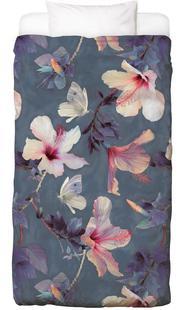 Butterflies & Hibiscus Flowers