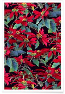 Painted Christmas Poinsettias