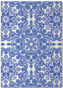 Blue & White Folk Art Pattern