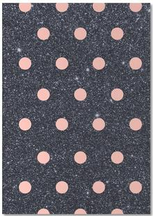 Pink Polka Dots on Shiny Background