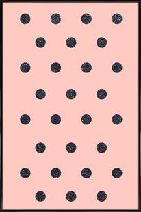 Shiny Polk Dots On Pink
