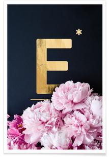 Flower Alphabet E