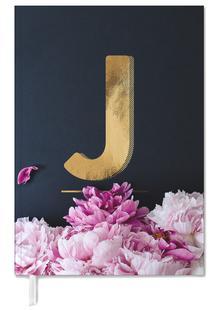 Flower Alphabet J