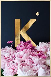 Flower Alphabet K
