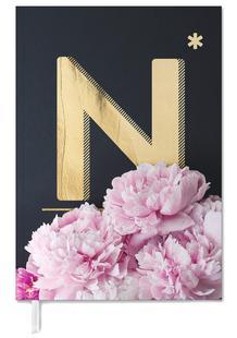 Flower Alphabet N