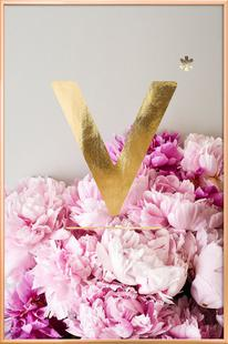 Flower Alphabet V
