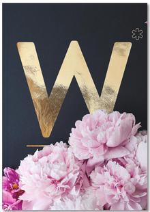 Flower Alphabet W