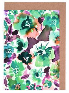 Zoe Floral Ocean Green