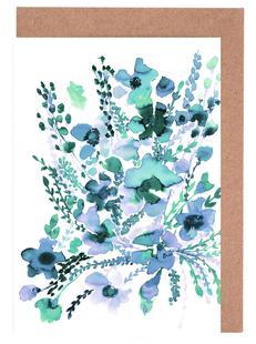 Amelia Floral Blue Green