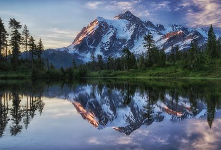 Sunrise on Mount Shuksan - James K. Papp