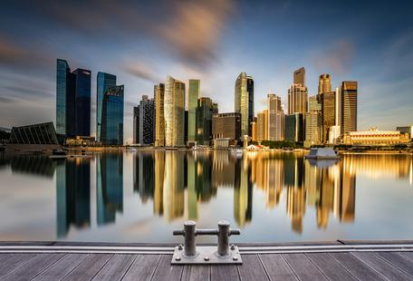 Golden Morning in Singapore