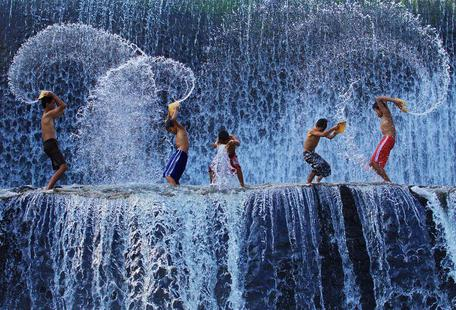 Playing with splash - Angela Muliani Hartojo