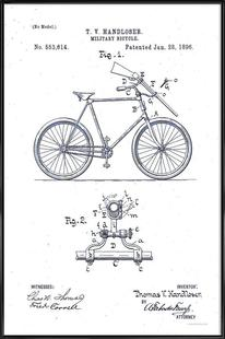 Rifle Carrier for Bicycle, Patent 1896