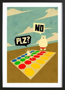Yeti doesn't play Twister