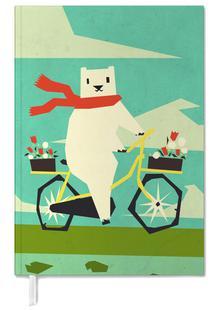 Yeti riding a bike