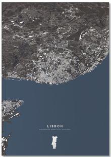 Lisbon Color City Map
