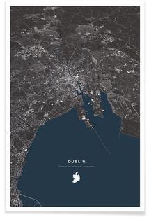 Dublin Color City Map