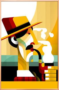 A man with a pipe