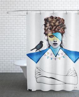 Blue Girl Black Bird
