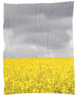 Grey Sky Meets Yellow Fields