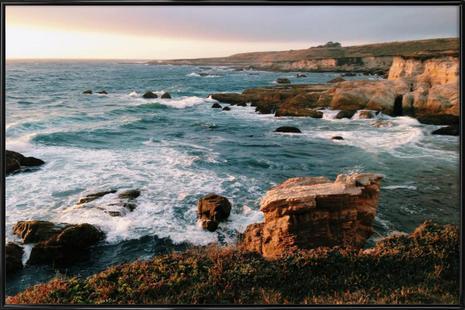 Dramatic Coastline at Sunset