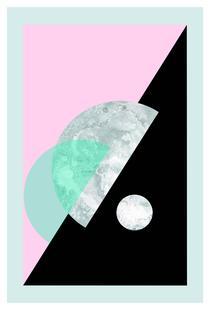 Pastel Moon Geometric