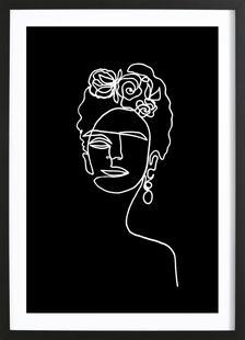 Frida Kahlo BW