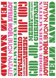 Playful Christmas Greetings / White