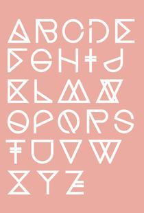 Geometrical ABC - blush