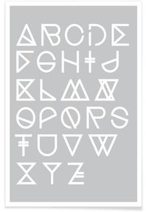 Geometrical ABC - grey