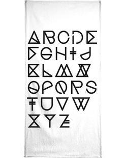 Geometrical ABC - white