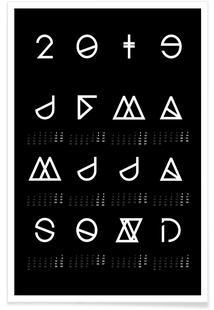 2019 Geometrical Calendar Black